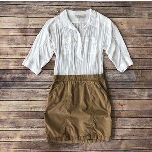 Loft mixed media shirt dress